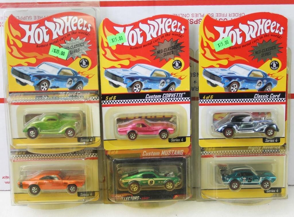 Lot of Hot Wheels Neo Classics Series Plus 1 Real