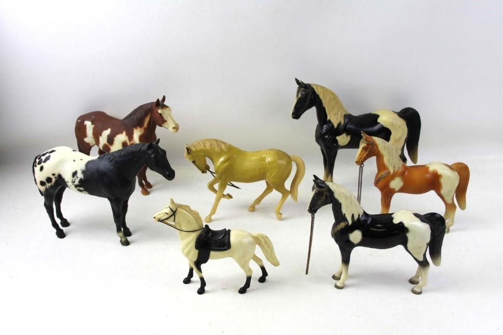 Vintage Toy Horses incl 2 Breyer and 2 Hartland