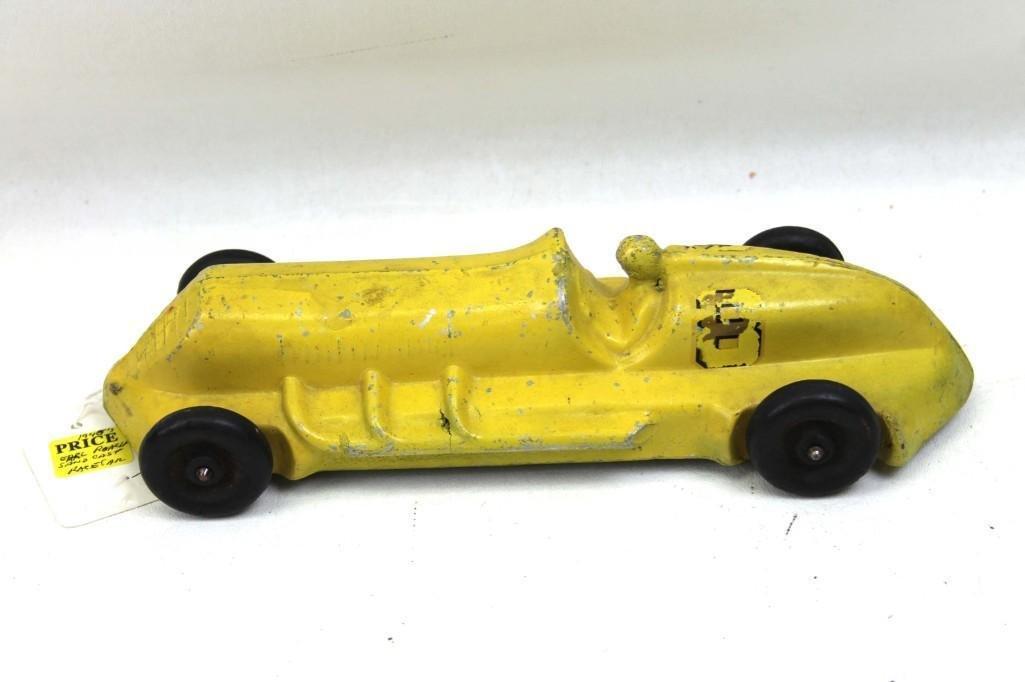 Antique Sand Cast Toy Race Car with Driver
