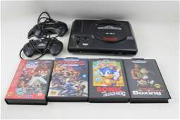 Sega Genesis with 4 Games and 2 Controllers