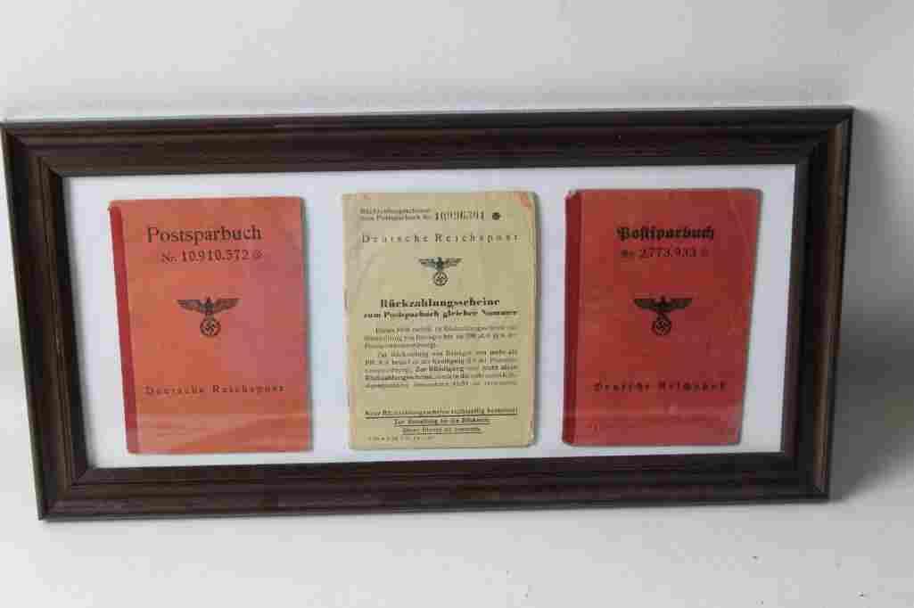 Set of 3 WW 2 German Post Office Booklets