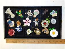 Lot of Costume Jewelry Brooches and Pins incl Vintage