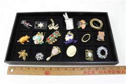 Lot of Costume Jewelry incl Vintage Brooches