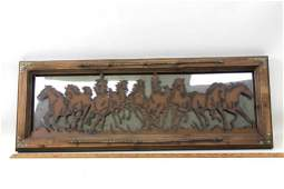 Framed Horse Decor Mirror