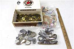 Lot of Vintage Smalls incl Stamps and Watches for Parts