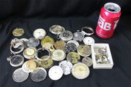 Lot of Watch Parts and Pieces for Repair or Steampunk