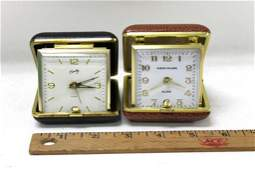 Lot of 2 Vintage Travel Alarm Clocks , Both Work