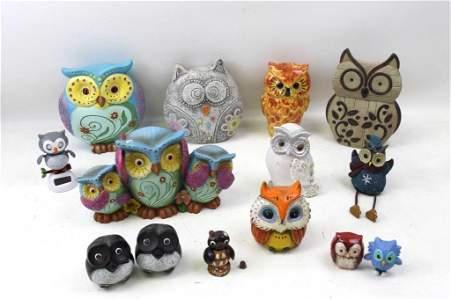 Lot of Owl Figures