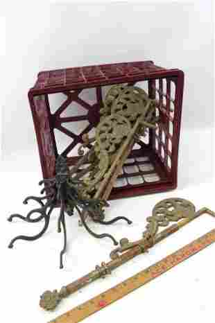Lot of Antique Hardware incl Drapery Pulls or Hangers