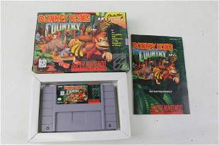 Donkey Kong Country SNES Game with Box and Instruction