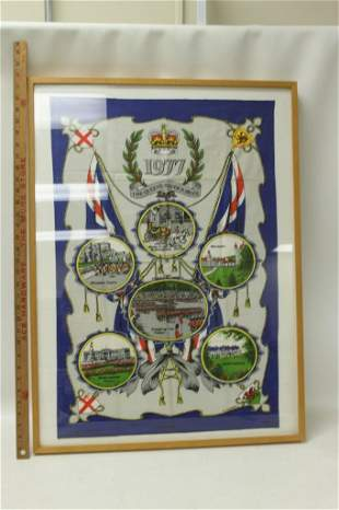 77 The Queen's Silver Jubilee Framed Cloth
