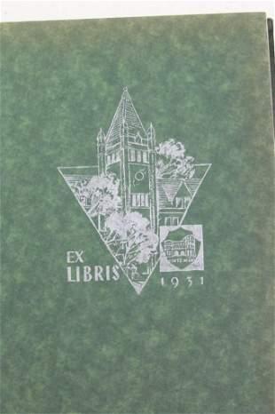 3 Vintage New Trier High School Year Books