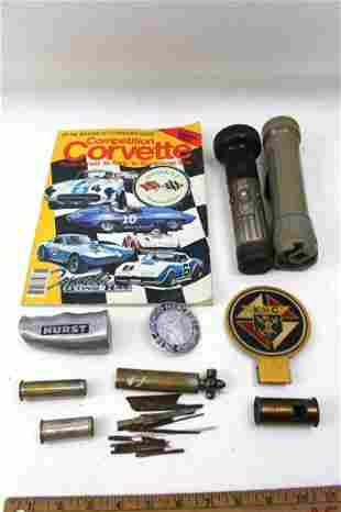 Misc Lot incl Antique Tire Gauge Tool Kit Mercedes