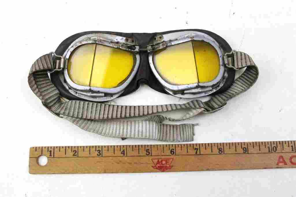 World War 2 British RAF Pilot Goggles