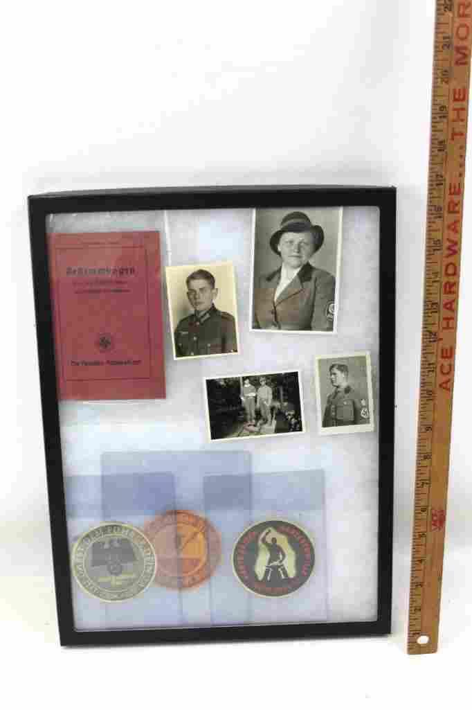 Misc. World War 2 German Items Framed