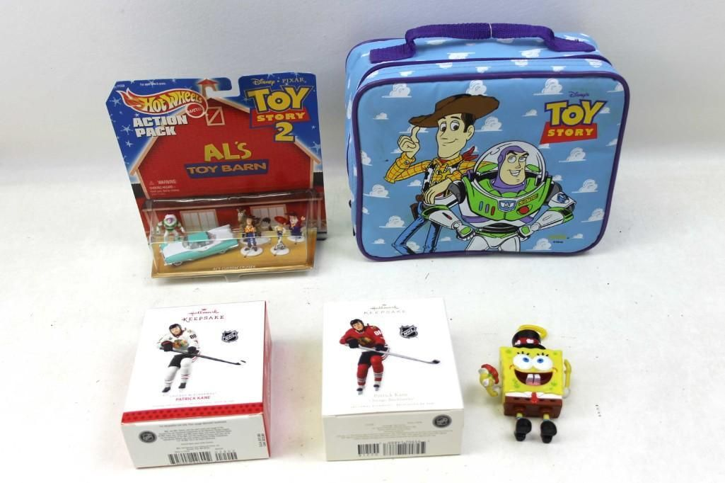 Collectibles Lot incl Toy Story Lunch Box , 2 Hallmark
