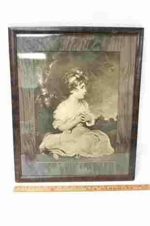 Antique Portrait Photo Framed