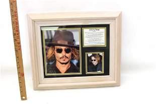 Johnny Depp Framed Photos and Filmography