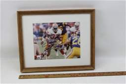 Autographed Framed Photo of Ricky Watters Former NFL
