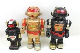 Lot of 3 Vintage Robot Toys incl Walking Talking Toby