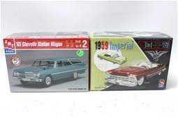 Lot of 2 Sealed Car Model Kits incl AMT 59 Imperial