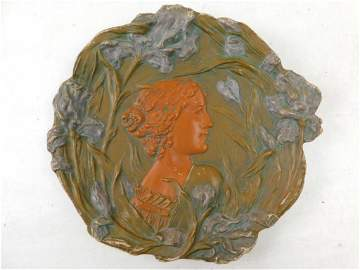 Ernst Wahliss Portrait Plaque Turn Wein Art Nouveau