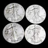 4 Ounces of Fine Silver incl 2 BU 2014 American Silver