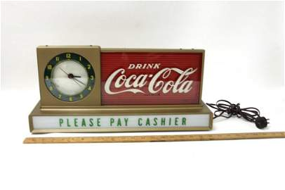 1956 Coca Cola Diner Clock Light