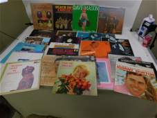 Lot of 25 Vinyl LP Records including Rock, Folk, and