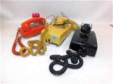 Lot of 3 Rotary Dial Wall Phones plus a Princess Phone