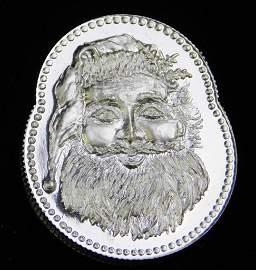 1 Troy Ounce Fine Silver Santa Claus Christmas Coin