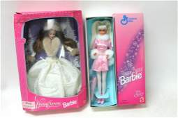 2 NIB Barbies incl Winter Evening Barbie and General