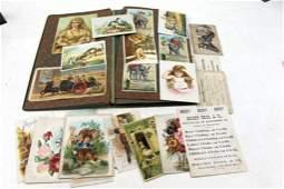 Vintage Scrapbook w Old Post Cards , Greeting Cards ,