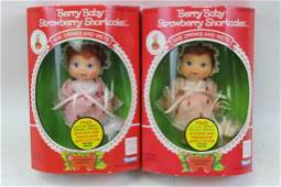 Lot of 2 Strawberry Shortcake Berry Baby Dolls New in