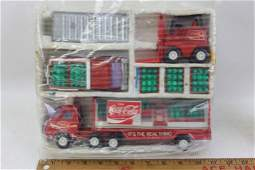 Lot of Toy Trucks including Coca Cola and Forklift, toy