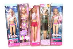 5 Barbie Dolls New in Box
