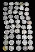 50 Roosevelt Dimes 90% Silver