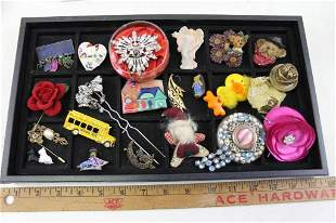 Lot of Costume Jewelry incl Pins and Brooches