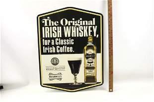 Bushmills Irish Whiskey Metal Bar Advertising Sign