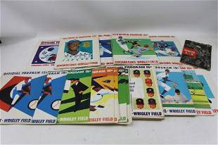 Lot of 50+ Chicago Cubs Programs 1965-1981