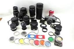 Large Camera Lot including Minolta SRT101 SLR, plus