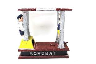 Cast Iron Mechanical Acrobat Bank