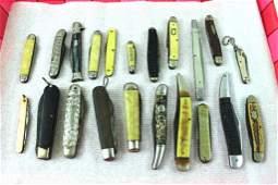 Lot of 21 Vintage Knives and Pocket Knives