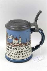 Mettlach Ges Gesch Beer Stein #2002