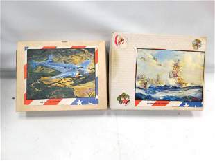 2 Vintage Jigsaw Puzzles incl Flying For Victory