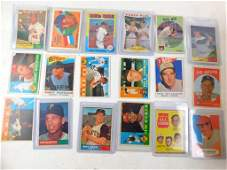 Lot of 18 Baseball Cards including Hank Aaron mostly