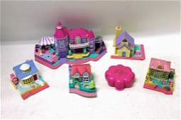 6 Vintage 1980s - 1990s BLUEBIRD Polly Pocket Playsets