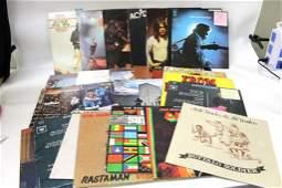 Lot of 25 Vinyl LP Records including Bob Marley