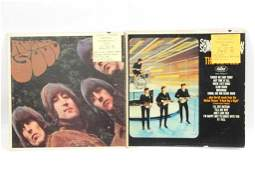 2 Beatles Vinyl LP Records Rubber Soul and Something