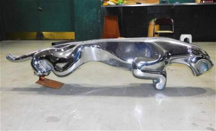 Very Large Jaguar 3D Silver Statue